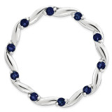 Created Sapphire Chain Slide Sterling Silver Large MPN: QSK1806 UPC: 191101476655 by Stackable Expressions