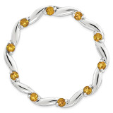 Polished Citrine Chain Slide Sterling Silver Large MPN: QSK1808 UPC: 191101550591 by Stackable Expressions