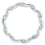 Polished Blue Topaz Chain Slide Sterling Silver Large MPN: QSK1809 UPC: 191101476662 by Stackable Expressions