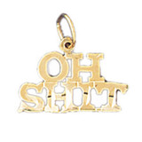 Oh Shit Pendant Necklace Charm Bracelet in Gold or Silver MPN: DZ-10640 UPC: 673681050833