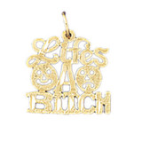 Lifes A Bitch Pendant Necklace Charm Bracelet in Gold or Silver MPN: DZ-10646 UPC: 673681050895