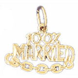 100% Married Pendant Necklace Charm Bracelet in Gold or Silver MPN: DZ-10674 UPC: 673681051175