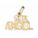 90% Angel Pendant Necklace Charm Bracelet in Gold or Silver MPN: DZ-10682 UPC: 673681051250