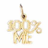 100% Me Pendant Necklace Charm Bracelet in Gold or Silver MPN: DZ-10688 UPC: 673681051311