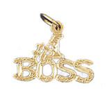 #1 Boss Pendant Necklace Charm Bracelet in Gold or Silver MPN: DZ-10731 UPC: 673681051731