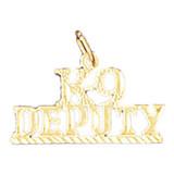 K-9 Deputy Pendant Necklace Charm Bracelet in Gold or Silver MPN: DZ-10911 UPC: 673681053490