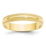4mm Lightweight Milgrain Half Round Band 10k Yellow Gold MPN: 1ML040 UPC: 886774455822
