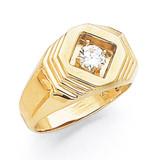 1-Stone Fancy Polished Men's Diamond Ring Mounting 14k Gold MPN: X9391