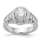 Diamond Semi-Mount Engagement Ring 14k White Gold MPN: RM2621E-063-WAA