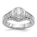 Diamond Semi-Mount Engagement Ring 14k White Gold MPN: RM2621E-050-WAA