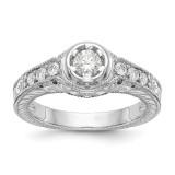 Diamond Semi-Mount Engagement Ring 14k White Gold MPN: RM2621E-025-WAA