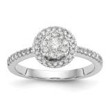Complete Diamond Cluster Engagement Ring 14k White Gold MPN: RM2354E-050-WAA