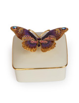 Jay Strongwater Lilliana Butterfly Porcelain Box Flora SDH7374-256