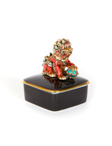 Jay Strongwater Zhen Foo Dog Porcelain Box Chinoiserie SDH7376-253