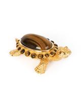 Jay Strongwater Ollie Tiger Eye Turtle Box Tiger Eye SDH7377-287