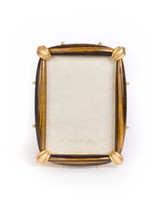Jay Strongwater Angelo Tiger Eye 5 x 7 Inch Picture Frame Tiger Eye SPF5845-287