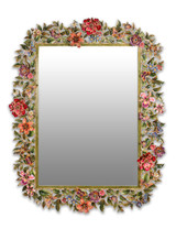 Jay Strongwater Adelaide Flora and Fauna Mirror Jewel SHM3023-250