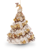 Jay Strongwater Peacock Christmas Tree Glass Ornament Golden SDH2172-232