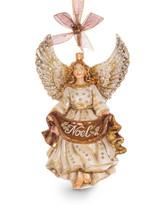 Jay Strongwater Noel Angel Glass Ornament Golden SDH2243-232