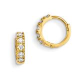 CZ Children'S Hinged Hoop Earrings 14k Gold GK648 UPC: 191101366598