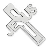 Jesus Cross Bookmark Sterling Silver Rhodium-plated QQ589 UPC: 886774561677