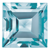 Blue Zircon 3Mm Square Step Cut Aa Quality Gemstone BZ-0300-SQS-AA