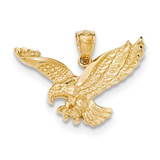 Textured Eagle Pendant 14K Gold Polished K5336 UPC: 886774617572