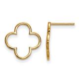 Quatrefoil Design Post Earrings 14k Gold XE3077 UPC: 191101055546