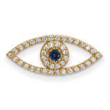 Small Diamond and Sapphire Evil Eye Pendant 14k Gold XP5040S/A