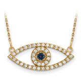 Medium Diamond and Sapphire Evil Eye Necklace 14k Gold XP5045S/A