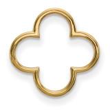 Small Quatrefoil Design Chain Slide 14k Gold XP5052