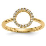 Diamond Open Circle Ring 14k Gold Y13739A UPC: 191101887611
