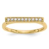 Diamond Bar Ring 14k Gold Y13742A UPC: 191101887857