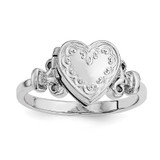 10Mm Locket Ring Sterling Silver Rhodium-plated QLS588R-6 UPC: 191101191534