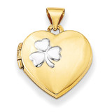 Rhodium 15Mm Heart Locket 14k Gold XL640 UPC: 883957145204