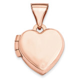 10Mm Plain Heart Locket 14k Rose Gold XL654 UPC: 883957143644