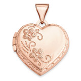 15Mm Domed Heart Locket 14k Rose Gold XL658 UPC: 883957144511