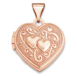 15Mm Heart Locket 14k Rose Gold XL659 UPC: 883957144559