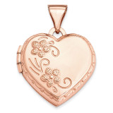 15Mm Reversible Heart Locket 14k Rose Gold XL662 UPC: 883957144535