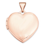 18Mm Domed Heart Locket 14k Rose Gold XL663 UPC: 883957143651