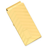 Angles Engravable Hinged Money Clip Gold-plated KW672 UPC: 191101055171