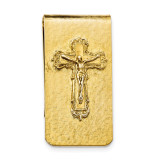 Crucifix Money Clip 14k Gold-plated RF562 UPC: 716806174996