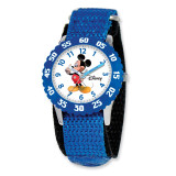 Disney Kids Mickey Mouse Blue Velcro Band Time Teacher Watch XWA3572 UPC: 843231059238