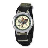 Disney Toy Story Kids Camo Velcro Band Time Teacher Watch XWA3613 UPC: 843231059887