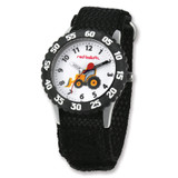 Red Balloon Construction Black Velcro Time Teacher Watch XWA4013 UPC: 843231062795