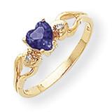 5Mm Heart Sapphire Diamond Ring 14k Gold Y2186S/A UPC: 883957649078