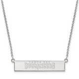 Tampa Bay Buccaneers Small Bar Necklace - 10k White Gold 1W016BUC-18