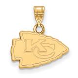 NFL Kansas City Chiefs Small Pendant 10k Yellow Gold, MPN: 1Y002CHF