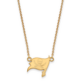 Tampa Bay Buccaneers Small Pendant with Necklace - 10k Yellow Gold 1Y011BUC-18