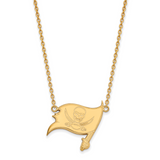 Tampa Bay Buccaneers Large Pendant with Necklace - 10k Yellow Gold 1Y012BUC-18